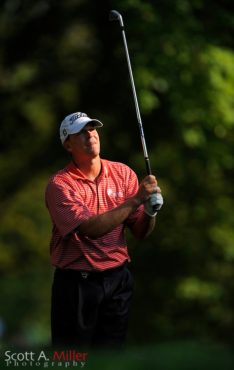 Aug 14, 2009; Chaska, MN, USA; Steve Stricker (USA) on the 13th hole during the second round of the 2009 PGA Championship at Hazeltine National Golf Club.  ©2009 Scott A. Miller