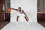 September 28, 2016: Dewan Huell #20 poses during  Miami Hurricanes Men's Basketball Photo Day in Coral Gables, Florida.