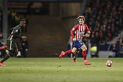 February 20, 2019 - Madrid, Spain - Antonie Griezmann (Atletico de Madrid)  in action during the match   UCL Champions League match between Atletico de Madrid vs Juventus at the Wanda Metropolitano stadium in Madrid, Spain, February 20, 2019  (Credit Image: © Enrique De La Fuente/NurPhoto via ZUMA Press)