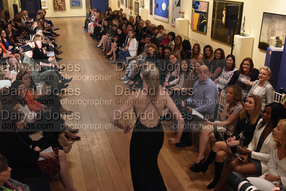 The Arthur Cox Irish Fashion Showcase 2015,  Irish based designers chosen to be part of this year's Arthur Cox Irish Fashion Showcases The Mall Galleries, London. 13 May 2015.