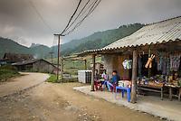 SAPA, VIETNAM - CIRCA SEPTEMBER 2014:  Typical street scene in the Ta Phin Village in North Vietnam