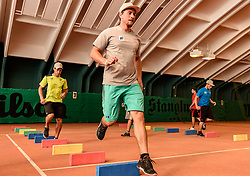 06.06.2017, Bio Hotel Stanglwirt, Going, AUT, OeSV Training, Herren Speed Team, Stanglwirt, Pressetermin, Training, im Bild Max Franz // Max Franz of Austria during a Trainingsession of men's speed Ski Team of Austrian Ski Federation (OeSV) at the Bio Hotel Stanglwirt in Going, Austria on 2017/06/06. EXPA Pictures © 2017, PhotoCredit: EXPA/ Stefan Adelsberger