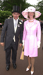 MR CHARLIE GORDON-WATSON and MRS ZARA DRAX <br /> sister of Tiggy Legge-Bourke, at Royal Ascot on 20th June 2000.<br /> OFN 106<br /> © Desmond O'Neill Features:- 020 8971 9600<br />    10 Victoria Mews, London.  SW18 3PY <br /> www.donfeatures.com   photos@donfeatures.com<br /> MINIMUM REPRODUCTION FEE AS AGREED.<br /> PHOTOGRAPH BY DOMINIC O'NEILL