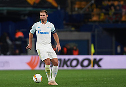 March 14, 2019 - Vila-Real, Castellon, Spain - Branislav Ivanovic of Zenit Saint Petersburg during the Uefa Europa League round of 16 second leg match between Villarreal and Zenit Saint Petersburg at Estadio de la Ceramica on March 14, 2019 in Vila-real Spain. (Credit Image: © AFP7 via ZUMA Wire)
