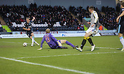 Gary Irvine scores Dundee's equaliser -  St Mirren v Dundee, SPFL Premiership at St Mirren Park <br /> <br /> <br />  - &copy; David Young - www.davidyoungphoto.co.uk - email: davidyoungphoto@gmail.com