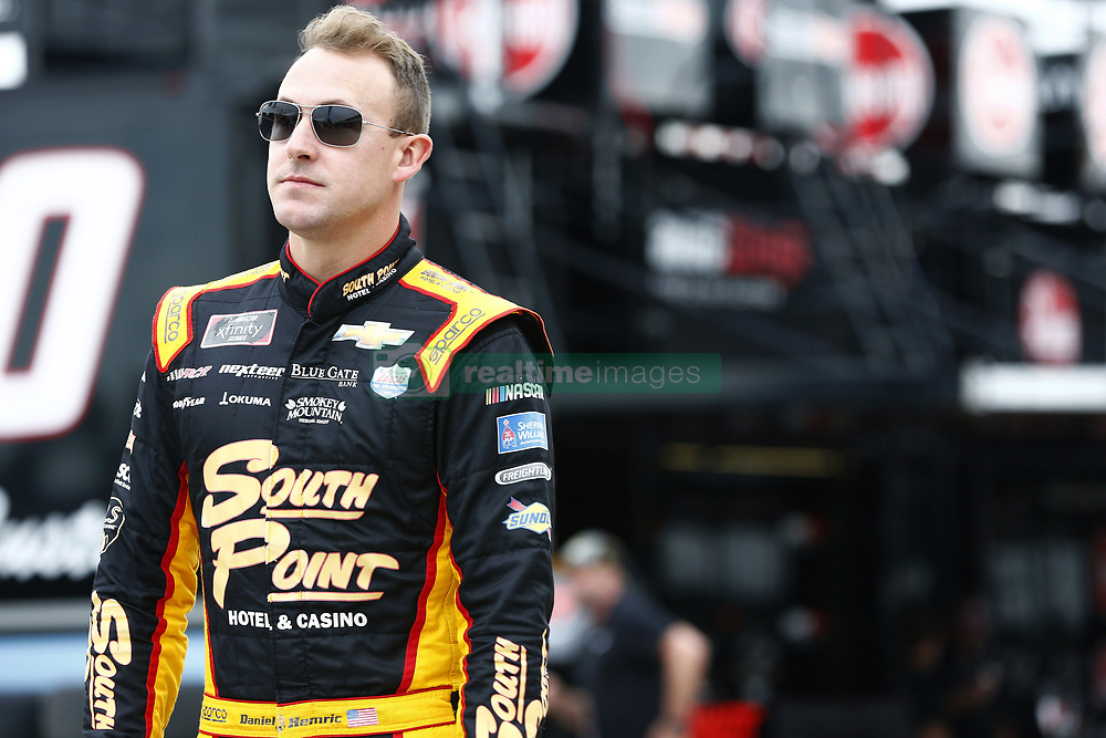 November 16, 2018 - Homestead, Florida, U.S. - Daniel Hemric (21) hangs out in the garage during practice for the Ford 300 at Homestead-Miami Speedway in Homestead, Florida. (Credit Image: © Justin R. Noe Asp Inc/ASP)