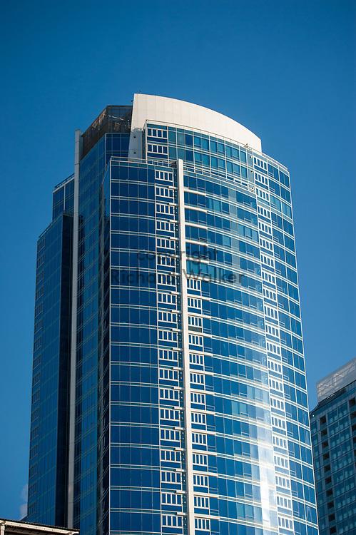 2017 DECEMBER 05 - 1521 2nd Avenue building against a blue sky, Seattle, WA, USA. By Richard Walker