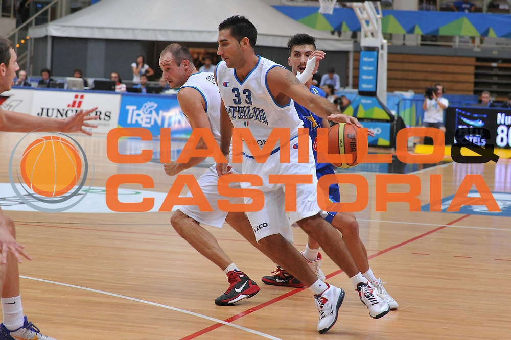 DESCRIZIONE : Trento Primo Trentino Basket Cup Italia Bosnia Erzegovi<br /> GIOCATORE : pietro aradori<br /> CATEGORIA : palleggio<br /> SQUADRA : Nazionale Italia Maschile<br /> EVENTO :  Trento Primo Trentino Basket Cup<br /> GARA : Italia Bosnia Erzegovi<br /> DATA : 27/07/2012<br /> SPORT : Pallacanestro<br /> AUTORE : Agenzia Ciamillo-Castoria/M.Gregolin<br /> Galleria : FIP Nazionali 2012<br /> Fotonotizia : Trento Primo Trentino Basket Cup Italia Bosnia Erzegovi<br /> Predefinita :