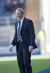 Falkirk's manager Gary Holt.<br /> Falkirk 2 v 1 Queen of the South, Scottish Championship 5/10/2013, played at The Falkirk Stadium.<br /> &copy;Michael Schofield.