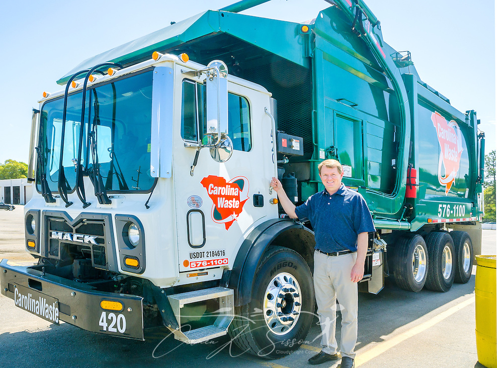 Scott Fennell, president and cofounder of Carolina Waste & Recycling LLC, is pictured at the corporate headquarters April 6, 2015, in North Charleston, S.C. Approximately 95 percent of the 60-truck fleet is comprised of Macks. The company was founded in 2002 and is the largest independently owned waste hauling company in the state. (Photo by Carmen K. Sisson/Cloudybright)
