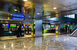 The shop frontage of Coral Betting Shop Manager-of-the-Year finalist Amran Al-Haque at 1 Canada Square, Canary Wharf, London, November 08 2018.