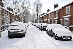 Snow, Thorpe Hamlet, Norwich Feb 2018 UK