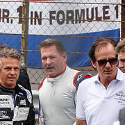 NLD/Zandvoort/20150628 - F1 demo Max Verstappen in de Toro Rosso, Jan Lammers, Jos Verstappen, Arie Luyendijk en Max Verstappen