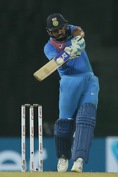 March 8, 2018 - Colombo, Sri Lanka - Indian cricket captain Rohit Sharma plays a shot during the 2nd T20 cricket match of NIDAHAS Trophy between India  and Bangladesh at R Premadasa cricket ground, Colombo, Sri Lanka on Thursday 8 March 2018. (Credit Image: © Tharaka Basnayaka/NurPhoto via ZUMA Press)