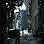 Chicago, alleyways in downtown area
