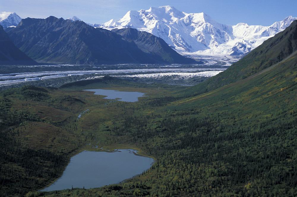 Aerial View.Wrangell Mountains.Wrangell St.Elias Natl.Park.Alaska.USA