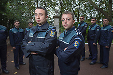 OCT 22 2013 Romanian Police officers in London