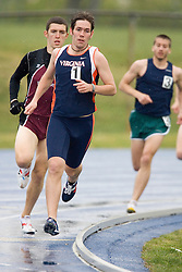 Virginia Cavaliers Matt Gutridge (1) finished fourth in the men's 5000m run.  The Virginia Cavaliers Track and Field team hosted the 2007 Lou Onesty/Milton G. Abramson Invitation at Lannigan Field at the University of Virginia on April 14, 2007.
