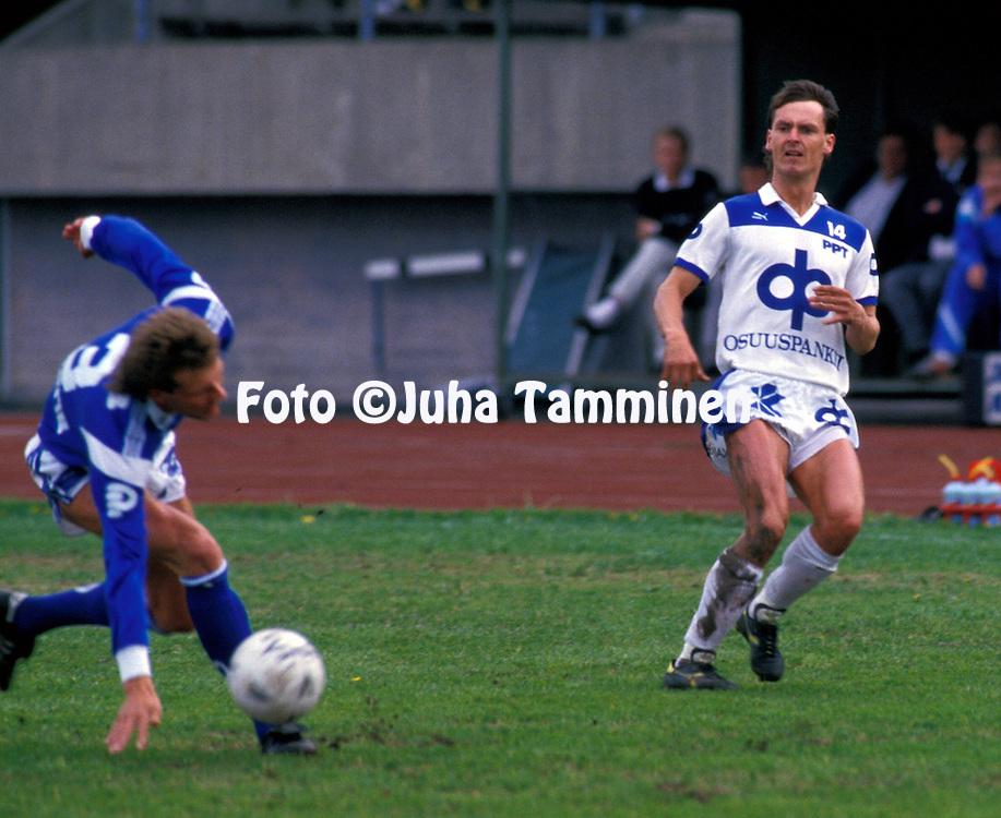 07.06.1987, Pori.SM-sarja, Porin Pallo-Toverit v Rovaniemen Palloseura.Seppo Sulonen - PPT.©JUHA TAMMINEN