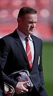 Wayne Rooney of Manchester United arrives at the stadium before the Barclays Premier League match at Anfield, Liverpool<br /> Picture by Russell Hart/Focus Images Ltd 07791 688 420<br /> 22/03/2015