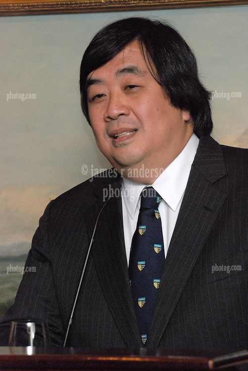 "Harold Hongju Koh, former Dean, Yale Law School speaker at the Maurice R. ""Hank"" Greenberg Reception, 21 Club NYC 18 Sept 2007. Honoring the endowment of the David Boies Professorship of Law at Yale Law School."