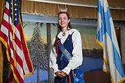 Megan Schacher som under 2017 &aring;rs midsommarfest i Astoria blev kr&ouml;nt till b&aring;de Miss Finland och Miss Scandinavia. Megan Schachers sl&auml;ktingar emigrerade fr&aring;n Finland till USA.<br /> <br /> Foto: Christina Sj&ouml;gren