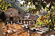 Graveyard and church in Arnedillo, La Rioja, Spain.