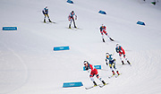 PYEONGCHANG-GUN, SOUTH KOREA - FEBRUARY 10: Marit Bjoergen of Norway and Charlotte Kalla of Sweden in the lead during the Ladies Cross Country Skiing 7.5km + 7.5km Skiathlon on day one of the PyeongChang 2018 Winter Olympic Games at Alpensia Cross-Country Centre on February 10, 2018 in Pyeongchang-gun, South Korea. Photo by Nils Petter Nilsson/Ombrello     <br /> ***BETALBILD***