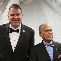 Florida Congressman Alan Grayson (left) and Osceola clerk of courts Armando Ramirez speak before County Commissioner Cheryl Grieb and partner Patti Daugherty marry, during Osceola County Florida's first gay marriage which started just after midnight on January 6, 2015 at the Osceola County courthouse in Kissimmee, Florida.  (AP Photo/Alex Menendez)
