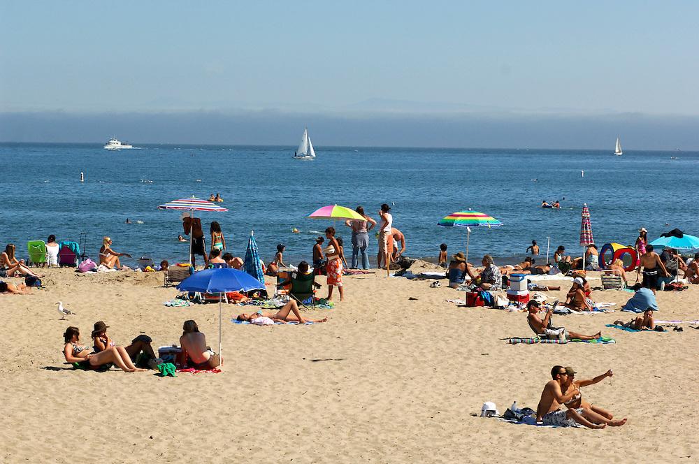 People on Beach, Santa Cruz, California, United States of America