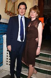 GEORGE OSBORNE MP and his wife  at the No Campaign's Summer Party - a celebration of the 'Non' and 'Nee' votes in the Europen referendum in France and The Netherlands held at The Peacock House, 8 Addison Road, London W14 on 5th July 2005.<br />