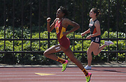 Mar 18, 2017; Los Angeles, CA, USA; Kyra Constantine of Southern California places second in the women's 400m in 53.95 during the Trojan Invitational at Cromwell Field.