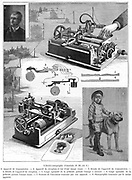 Facsimle or copying telegraph system by Amstutz of Cleveland, Ohio. Wood engraving, 1896.