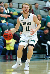 17 November 2017:  Colin Bonnett during an College men's division 3 CCIW basketball game between the Alma Scots and the Illinois Wesleyan Titans in Shirk Center, Bloomington IL