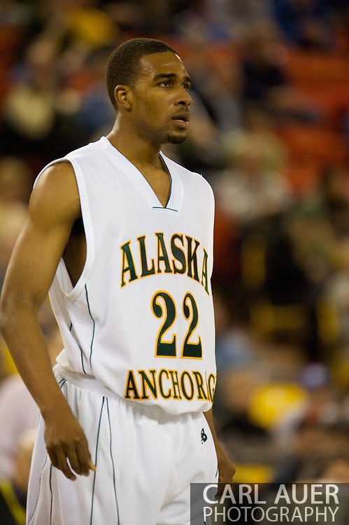 November 26, 2008: University of Alaska-Anchorage guard Brandon Walker (22) in the second half against Hampton in the opening game of the 2008 Great Alaska Shootout at the Sullivan Arena.