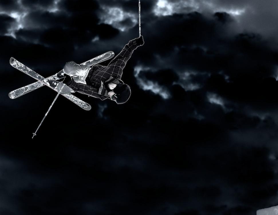 Skier at Night Jump