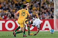 SYDNEY, NSW- NOVEMBER 15: Australian Mile Jedinak (15) and Honduras Bryan Acosta (6) come together at the Soccer World Cup Qualifier between Australia and Honduras on November 10, 2017. (Photo by Steven Markham/Icon Sportswire)