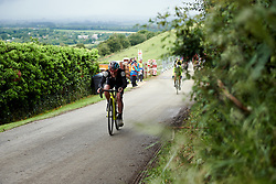 Abby-Mae Parkinson (GBR) on the final lap at Stage 4 of 2019 OVO Women's Tour, a 158.9 km road race from Warwick to Burton Dassett, United Kingdom on June 13, 2019. Photo by Sean Robinson/velofocus.com