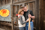 Bob Denman and Rita of Red Pig Tools in Boring, Oregon.