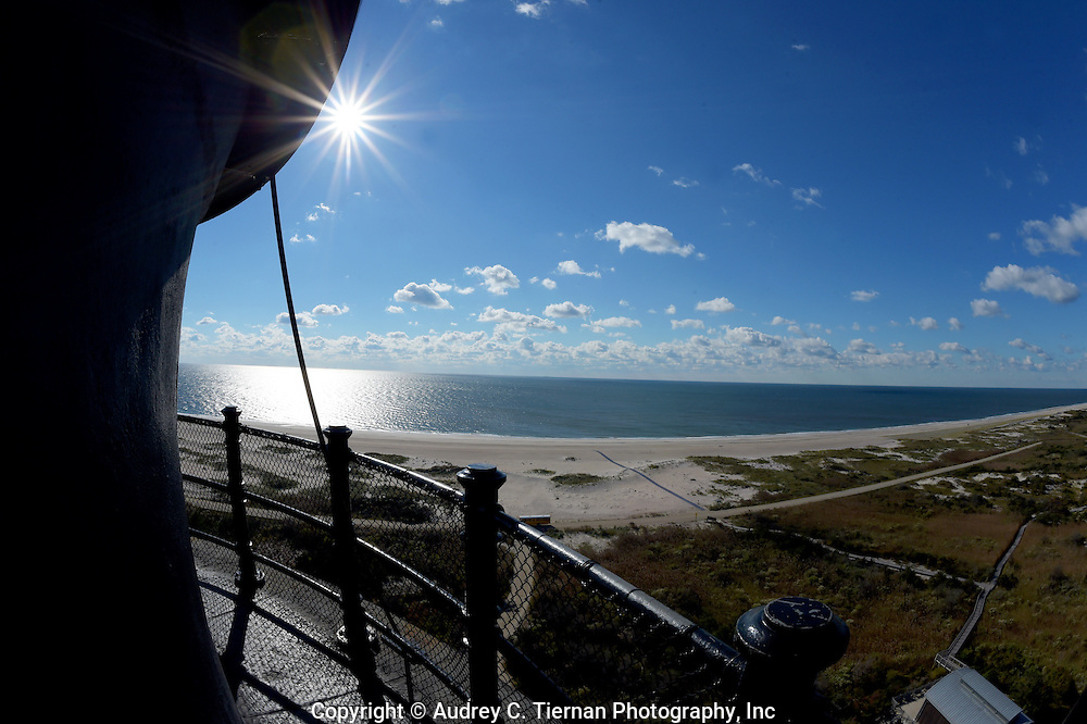 Babylon, NY,  October 25, 2016: ---  A view of the Atlantic Ocean from the gallery of  the Fire Island Lighthouse    © Audrey C. Tiernan