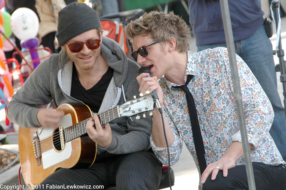The Tuffingtons perform at the Santa Monica Farmers Market on Sunday, January 9, 2011.