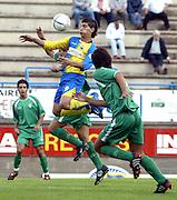 Partido de tercera disputado entre el Palamós como equipo local y el Cornellà..COPYRIGHT: TONI VILCHES FOTOGRAFIA.