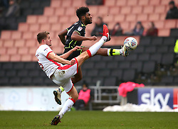 Ellis Harrison of Bristol Rovers beats Scott Wootton of Milton Keynes Dons to the ball - Mandatory by-line: Robbie Stephenson/JMP - 03/03/2018 - FOOTBALL - Stadium MK - Milton Keynes, England - Milton Keynes Dons v Bristol Rovers - Sky Bet League One