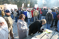 About 200 people came to protest the closing of Otter Creek Park by the city of Louisville, Sunday, Dec. 07, 2008 at Otter Creek Park in Muldraugh.