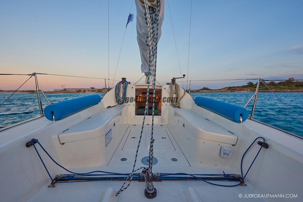 Palma April 2015 Saphire Safira sailing in the bay of Palma