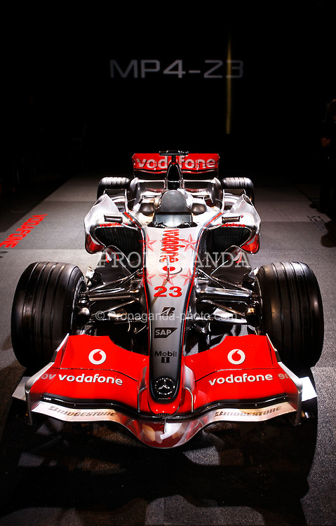 STUTTGART, GERMANY - Monday, January 7, 2008: The launch of the Vodafone McLaren Mercedes MP4-23 Formula One car for the 2008 season at the Mecedez-Benz museum in Stuttgart. (Photo by Michael Kunkel/Hochzwei/Propaganda)