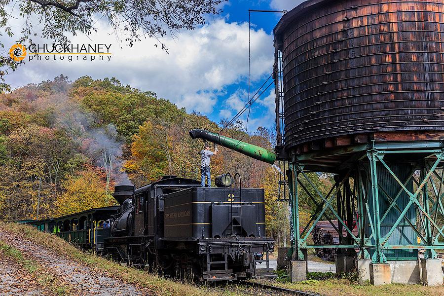 Cass Scenic Railroad in Cass, West Virginia, USA