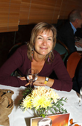 TV presenter PENNY SMITH at a pre-screening party of a film by Fiona Sanderson entitled 'The Hunt For Lord Lucan' held at Langans, 254 Old Brompton Road, London SW7 on 8th November 2004.<br />