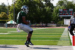 17 September 2011: Joey Driver hauls in a pass good for a 6 point touchdown in the 2nd quarter during an NCAA Division 3 football game between the Aurora Spartans and the Illinois Wesleyan Titans on Wilder Field inside Tucci Stadium in.Bloomington Illinois.