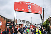 Bootham Cresent during the Vanarama National League match between York City and Forest Green Rovers at Bootham Crescent, York, England on 29 April 2017. Photo by Shane Healey.